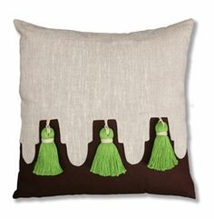 palm springs linen awning pillow