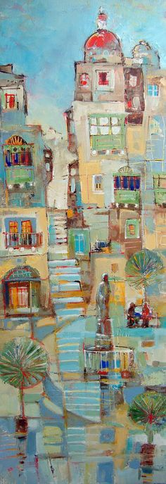 Urban Landscape - Stairway Malta, C.S. Lawrence