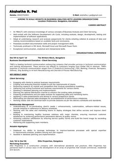 Awesome Create Your Astonishing Business Analyst Resume And Gain