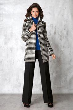 W Houndstooth Coat Women's | MetroStyle
