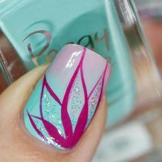 43 Popular Nail Art Designs Ideas For Summer 2019 Cute Nail Art, Easy Nail Art, Cute Nails, Pretty Nails, Beautiful Nail Art, Spring Nail Art, Spring Nails, Summer Nails, Nail Art Designs