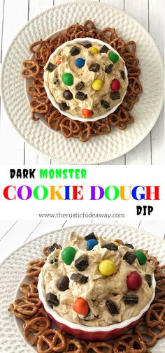 This dip is monstrously delicious...filled with two different kinds of dark chocolate goodness!