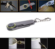 Amazon.com : SZHOWORLD® Outdoor Mini Keychain Survival Knife EDC Portable Multi-function Folding Knife : Sports & Outdoors