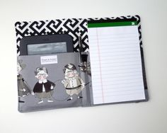 Notepad Organizer / List Taker / Portfolio  A by GingerandJuniper, $24.00