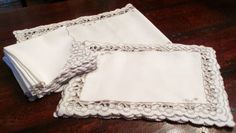 Vintage 17 Piece Set Linen Runner, Mats And Napkins from topdraw on Ruby Lane