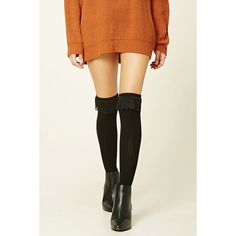 Forever 21 Women's  Over-The-Knee Lace Socks (510 RUB) ❤ liked on Polyvore featuring intimates, hosiery, socks, over the knee hosiery, lace socks, over the knee socks, forever 21 socks and lace over the knee socks