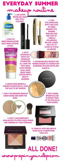 Easy everyday makeup routine perfect for summer http://www.prepinyourstep.com