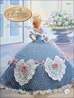 Crochet - Doll Patterns - Bed Doll Patterns - The Cotillion Collection Miss February 1992
