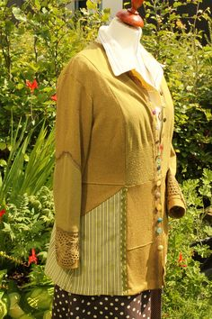 Cardigan made of three old blouses