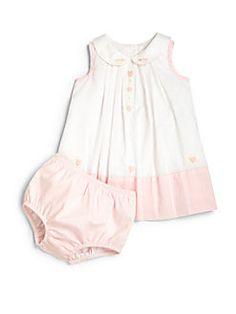 Ralph Lauren - Infant's Two-Piece Colorblock Dress & Bloomers Set