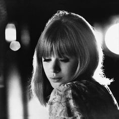 Marianne Faithfull...I love the 60's English girls look with the soft bangs (fringe) and the eyelashes! Still modern!