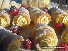 vanilla cream rolls Kuhalica: Rolice s kremom od vanilije! Hvala seki na predobroj kremi od vanilije!!!