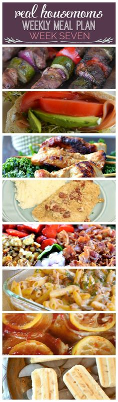 Weekly Meal Plan {Week 7} - Real Housemoms