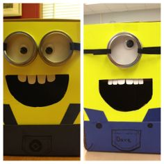 Minion valentine boxes