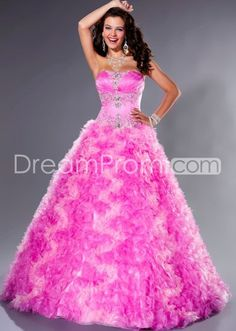 A-Line Floor length Sweetheart Prom/Quinceanera/Ball Gown Dresses