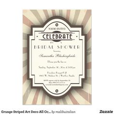 Here is an art deco meets grunge meets hipster design that can be used for all occasions because the text is completely customizable! Also, this is an ideal design for a guy's birthday party as it is not too feminine.