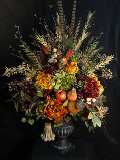 Large Silk flower arrangementTuscany Table by DesignsbyHEartWorks
