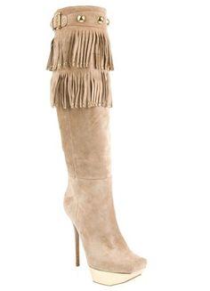 gia lorenzi shoes, gianmarco lorenzi boots cheap $225, lorenzi shoes online, Gianmarco Lorenzi Fringed Suede Boots Pink