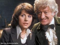 The Third Doctor (Jon Pertwee) and Sarah Jane (Elisabeth Sladen)