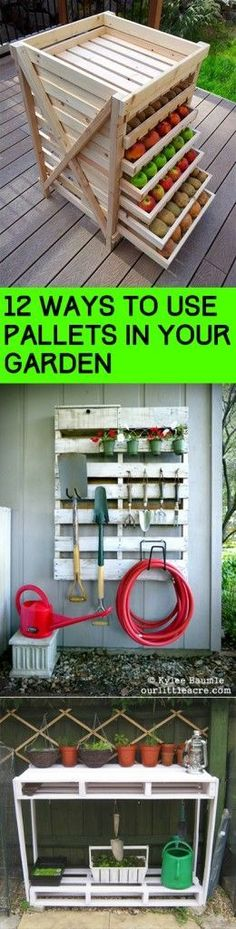 12 Ways to Use Pallets in Your Garden #homegardentools