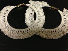 """Crochet hoop earrings """"fit n' Flare"""""""