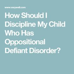 Learn how parents can help kids with oppositional defiant disorder manage their behaviors with discipline techniques. Oppositional Defiant Disorder Strategies, Oppositional Defiance, Adhd Odd, Adhd And Autism, Odd Disorder, Disorders, Defiance Disorder, Conduct Disorder, Anxiety In Children