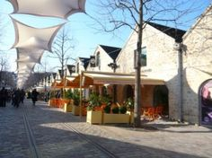 Bercy village, Paris. Stress-free shopping and good lunches in old warehouses. Stroll in the park.