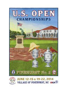 2014 U.S. Open Championships Poster Unframed by Lee Wybranski (USGANV032000)  $30.00
