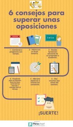 6 #consejos para preparar unas #oposiciones. Study Techniques, Scrambler, Bujo, Productivity, Nerd, Challenges, Organization, School, Tips