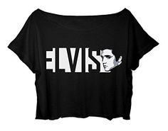 Elvis Presley Shirt Rock N Roll Women's Crop Tee Elvis Presley