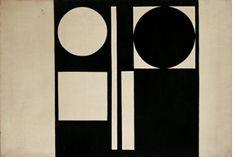 Julije Knifer, K-16, oil, canvas, 1960.