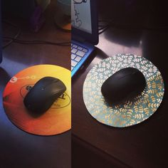 Turned an old mouse pad into a cute one! All you need is an old mouse pad, glue, and paper. I used gorilla glue because I didn't have mod podge, but it would probably work better!