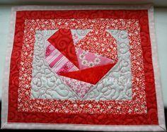 crazy heart block........heart mug rug- tutorial