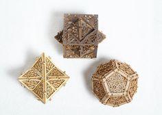 Model Kit - 3 Small Orbs - Unique Gift - Geometric Design - Lasercut - Architectural
