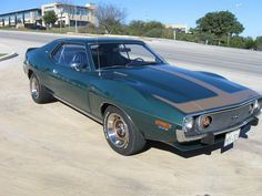 '73 AMC Javelin AMX Go-Pack, Cowl Inducted 360 4bbl V8/727 Auto/3.54 Twin-Grip Axle w/HD cooling & handling package