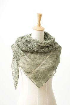 Ravelry: Desert Rain shawl with SnailYarn Silky Linen Fingering - knitting pattern by Janina Kallio. Huivi neulottu