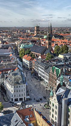 Amagertorv square seen from the top of St. Nicholas Church #Copenhagen