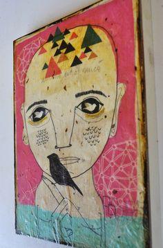 Little Bird Man by Kelly Puissegur (aka retrowhale).  $36