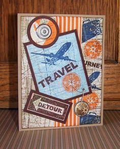 Stampin Up!, Nostalgic Collage': Vintage Travel Collage' Cards, by Kris Dickinson