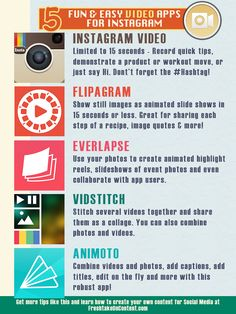 5 Fun & Easy Instagram Video Apps [Infographic]