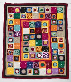 Crochet Patchwork throw by Panda Australia