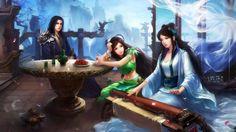 Chinese Game Characters 1366x768 - Fondo de Pantalla #2524