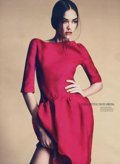 InStyle UK - Spring's TOP 10 with model Eszter Boldov.  February 2012.  Photography by Damon Baker.