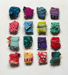 Bundles 2015 mixed media 4 x 4 in. Textile Sculpture, Mixed Media Sculpture, Textile Fiber Art, Textile Artists, Fabric Beads, Fabric Jewelry, Fabric Art, Japanese Aesthetic, Art Journal Inspiration