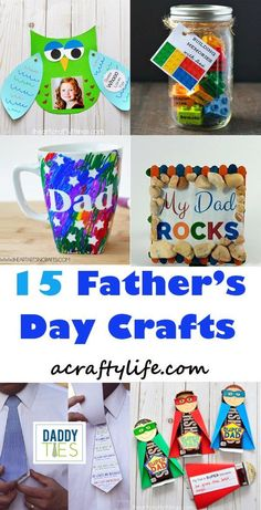 fathers day craft -crafts for kids- kid crafts - acraftylife.com #preschool #kidscraft #craftsforkids