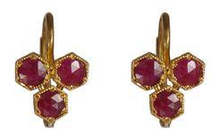 Cathy Waterman gold ruby earrings