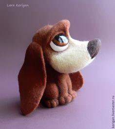 Купить Щенячий взгляд - пес, валяная собака, Глазки, большие глаза, печаль, игрушка