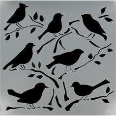 stencil more crafter workshop birds templates art crafts crafts ideas