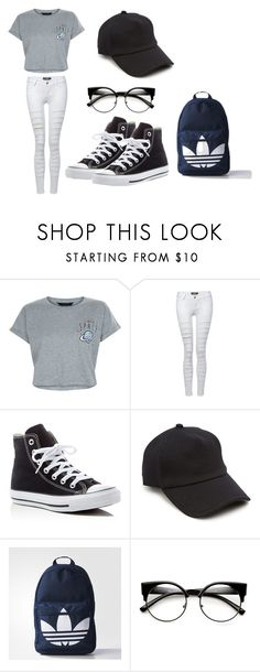 """you and johnson on a first date"" by omaha-magcon-fangirl on Polyvore featuring New Look, Pilot, Converse, rag & bone and adidas"