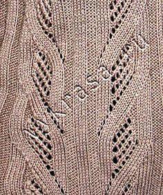 Фото: рельефный узор для вязания спицами №15